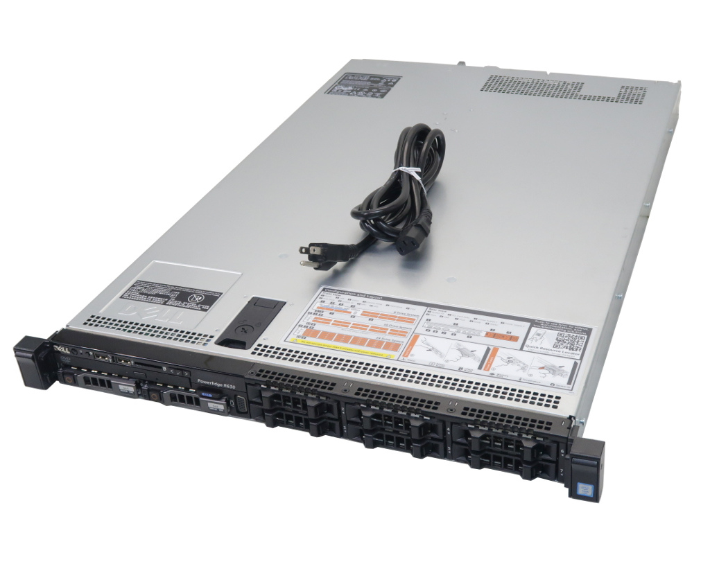 DELL PowerEdge R630 Xeon E5-2603 v4 1.7GHz 8GB 300GBx2台(SAS2.5インチ/12Gbps/RAID1構成) DVD-ROM PERC H330 Mini 【中古】【20200528】