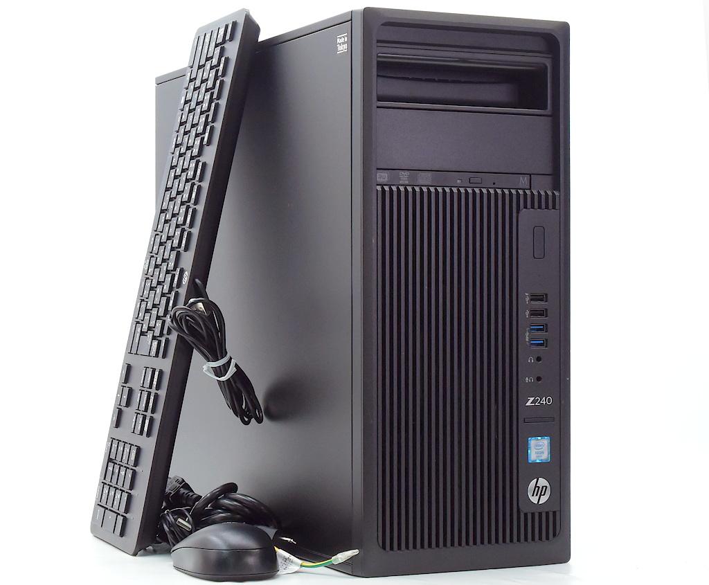 hp Z240 Tower Workstation Xeon E3-1225 v5 3.3GHz 8GB 500GB(HDD) Quadro K2200 DVD+-RW Windows10 Pro 64bit 【中古】【20200716】