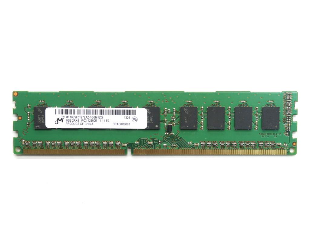 Micron PC3-12800E 4GB DDR3 ECC Unbuffered hpワークステーション 安い 激安 売れ筋ランキング プチプラ 高品質 Z210 Z220 中古 20210331 Z420等対応