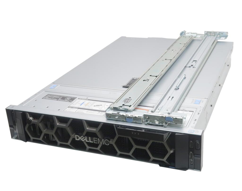 DELL PowerEdge R740 Xeon Gold 6140 2.3GHz*2 192GB 480GBx2台(SAS SSD2.5インチ/12Gbps/RAID1) 1.2TBx4台(12Gbps/RAID5) PERC H330 【中古】【20210630】