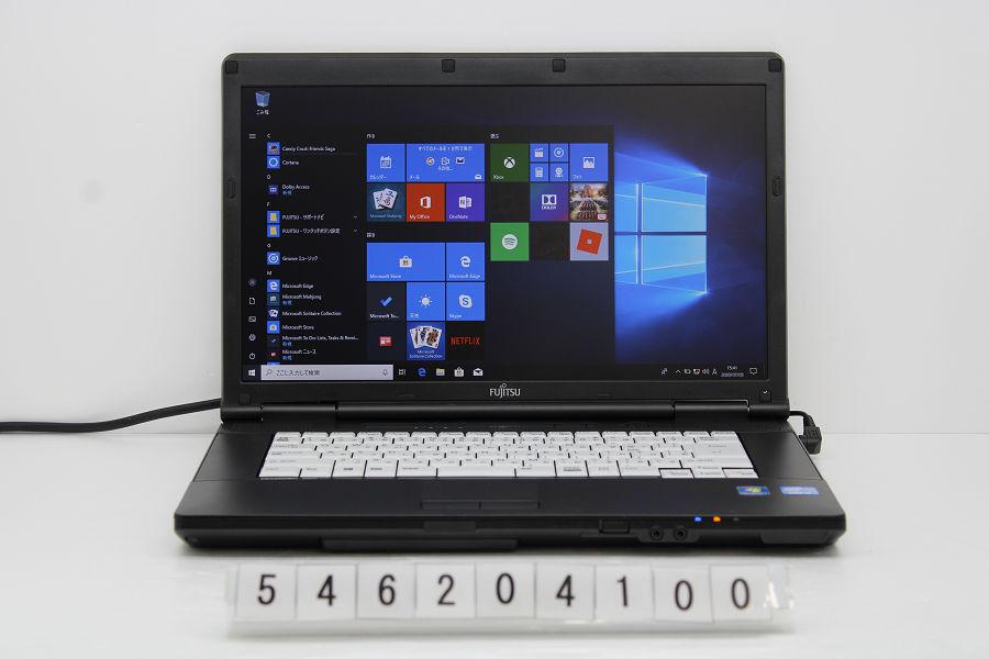 富士通 LIFEBOOK A572/F Core i5 3320M 2.6G/8G/256G(SSD)/DVD/15.6W/FWXGA(1366x768)/Win10 バッテリー完全消耗 USB不良【中古】【20200716】