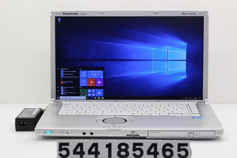 Panasonic CF-B10EWCYS Core i5 2540M 2.6GHz/4GB/250GB/Multi/15.6W/FHD(1920x1080)/Win10【中古】【20180421】