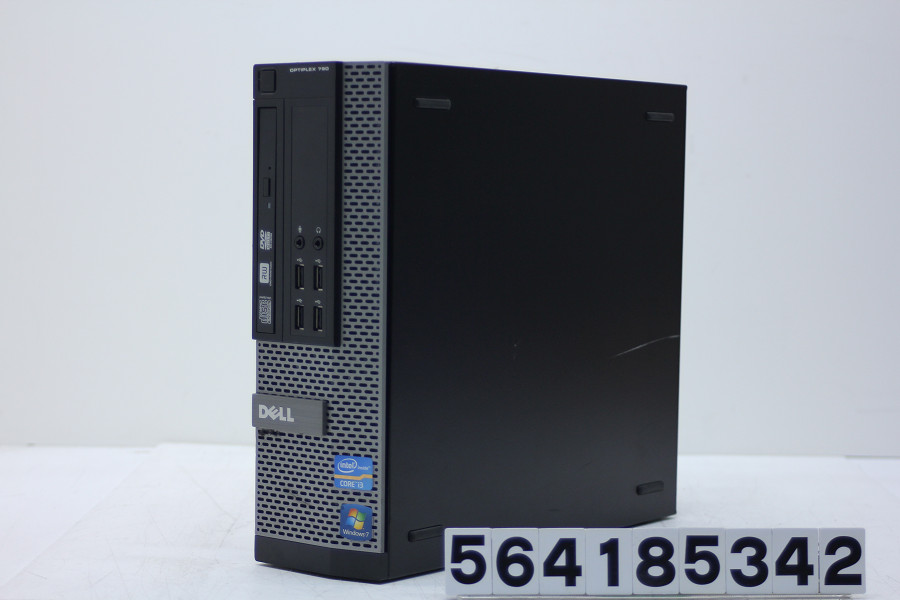 DELL Optiplex 790 SFF Core i3 2120 3.3GHz/4GB/250GB/Multi/RS232C/Win10 光学ドライブ難あり【中古】【20180421】