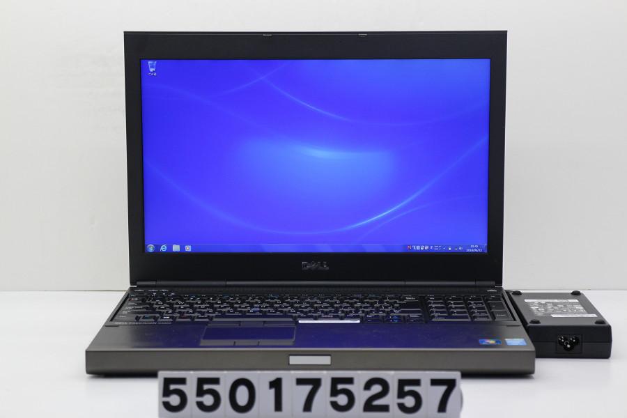 DELL Precision M4800 Core i7 4700MQ 2.4GHz/8GB/500GB/Multi/15.6W/FHD(1920x1080)/Win7/Quadro K1100M 有線LAN不良【中古】【20180627】