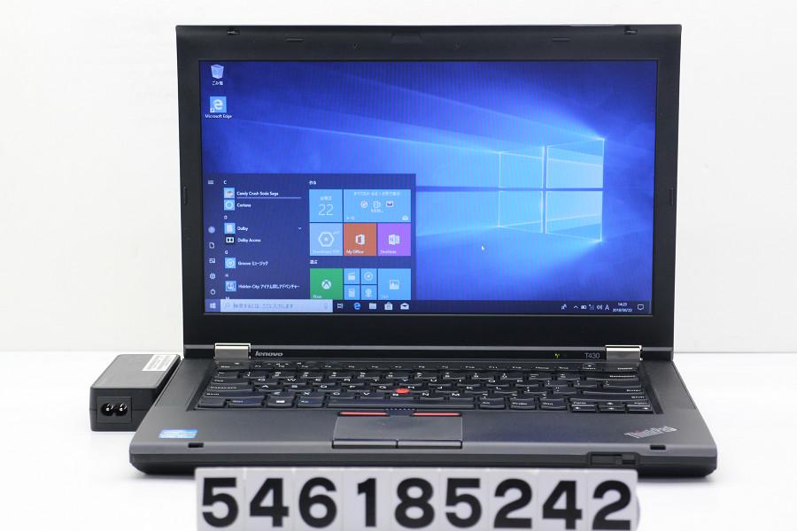 lenovo ThinkPad T430 Core i5 3320M 2.6GHz/4GB/320GB/Multi/14W/FWXGA(1366x768)/Win10【中古】【20180627】, ショウワク:447b7147 --- myneeds.jp