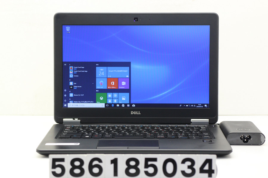 DELL Latitude E7250 Core i7 5600U 2.6GHz/8GB/256GB(SSD)/12.5W/FWXGA(1366x768)/Win10 SDスロット不良【中古】【20180725】