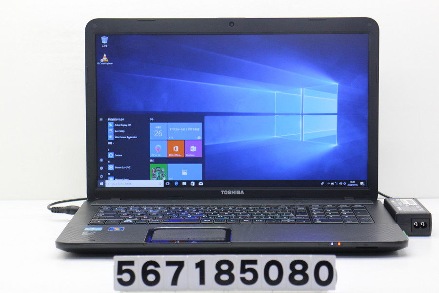 【ジャンク品】東芝 dynabook Satellite B372/F Core i5 2.6GHz/4G/320G/Multi/17.3W/WXGA++/Win10 有線LAN、キーボード不良【中古】【20180731】