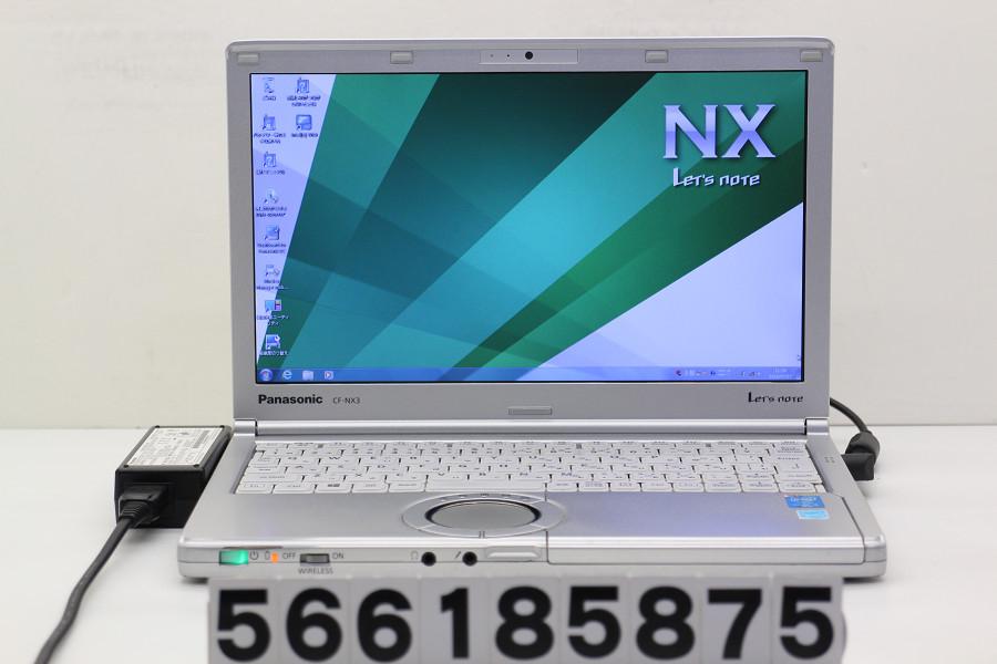 Panasonic CF-NX3GDHCS Core i5 4300U 1.9GHz/4GB/320GB/12.1W/WXGA++(1600x900)/Win7【中古】【20180731】