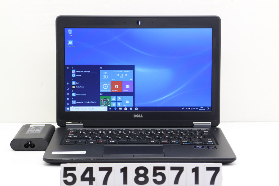DELL Latitude E7250 Core i7 5600U 2.6GHz/16GB/512GB(SSD)/12.5W/FWXGA(1366x768)/Win10【中古】【20180731】