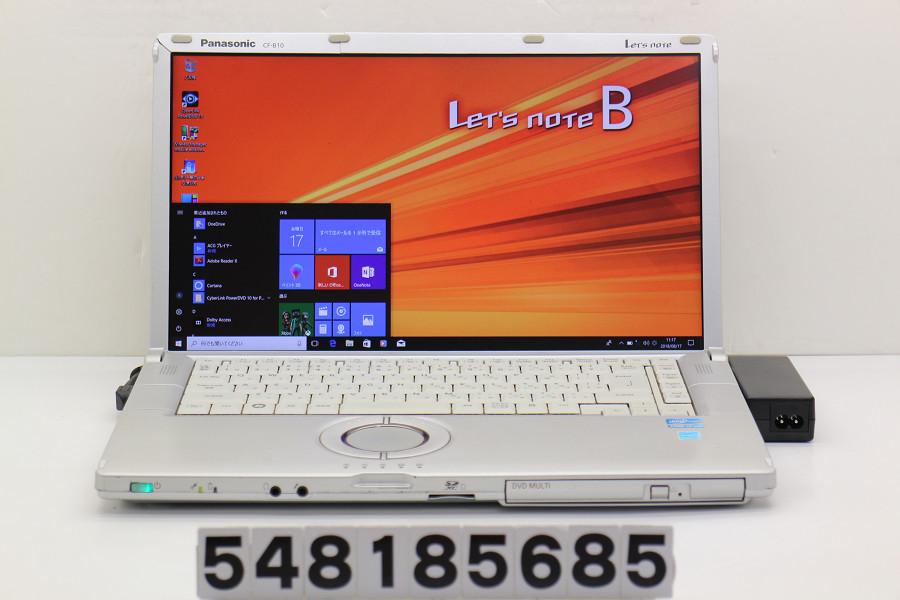 Panasonic CF-B10BW6YS Core i7 2620M 2.7GHz/4GB/750GB/Multi/15.6W/FHD(1920x1080)/Win10 SDスロット難あり【中古】【20180821】