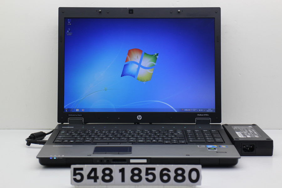 hp EliteBook 8740w Core i5 M560 2.67GHz/6GB/128GB(SSD)/Multi/17W/WSXGA+(1680x1050)/Win7/Quadro FX 2800M クリック難あり【中古】【20180821】