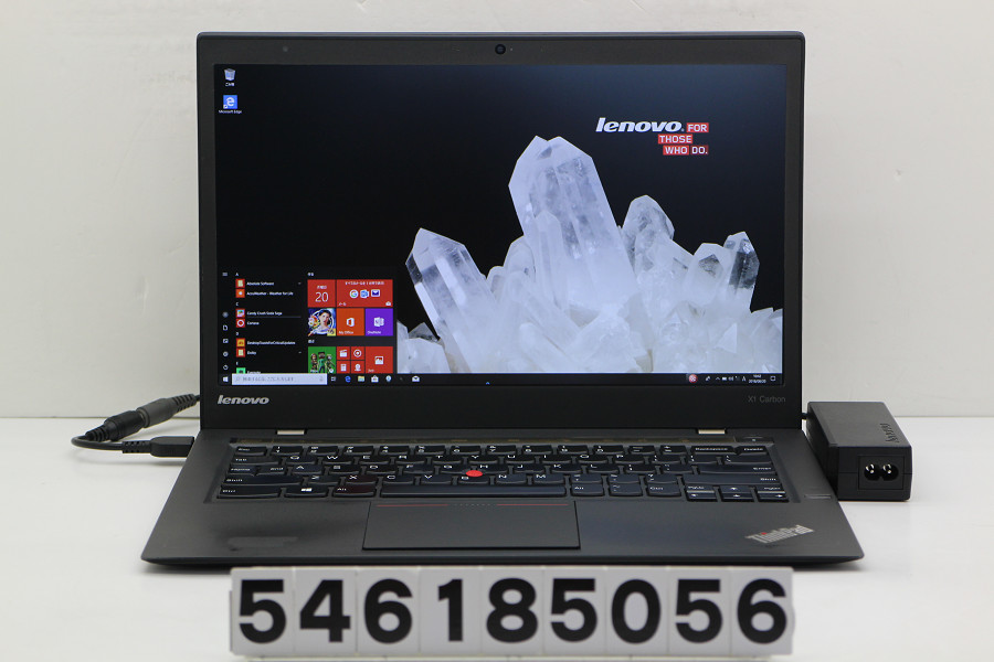 lenovo ThinkPad X1 Carbon Core i7 4600U 2.1GHz/8GB/256GB(SSD)/14W/WQHD(2560x1440)/Win10【中古】【20180822】