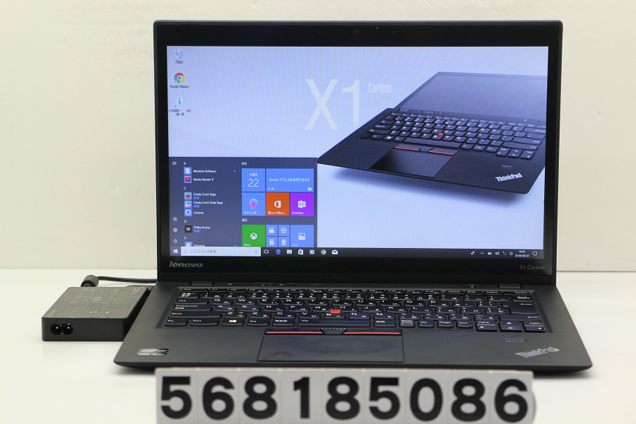 lenovo ThinkPad X1 Carbon Core i5 3427U 1.8GHz/4GB/180GB(SSD)/14W/WXGA++(1600x900) タッチパネル/Win10【中古】【20180828】