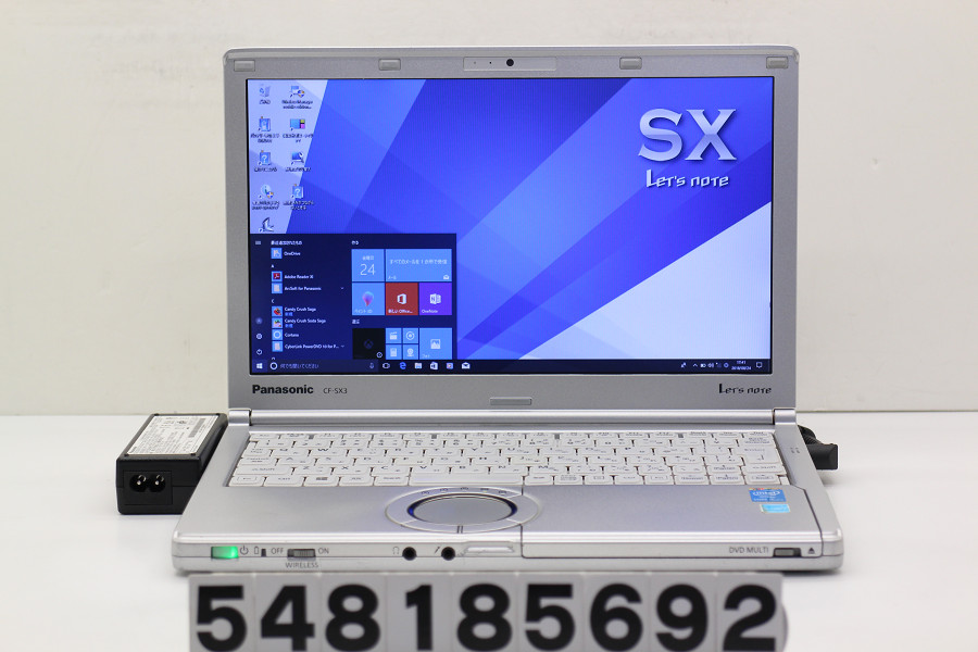 Panasonic CF-SX3GDHCS Core i5 4300U 1.9GHz/8GB/320GB/Multi/12.1W/WXGA++(1600x900)/Win10【中古】【20180828】