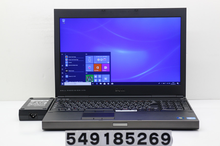 DELL Precision M4700 Core i7 3520M 2.9GHz/8GB/320GB/Multi/15.6W/FHD(1920x1080)/Win10/Quadro K1000M【中古】【20180918】