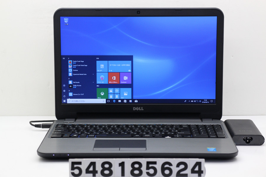 DELL Latitude 3540 Core i5 4310U 2GHz/4GB/500GB/Multi/15.6W/FWXGA(1366x768)/Win10 「←」キートップ欠品【中古】【20180918】