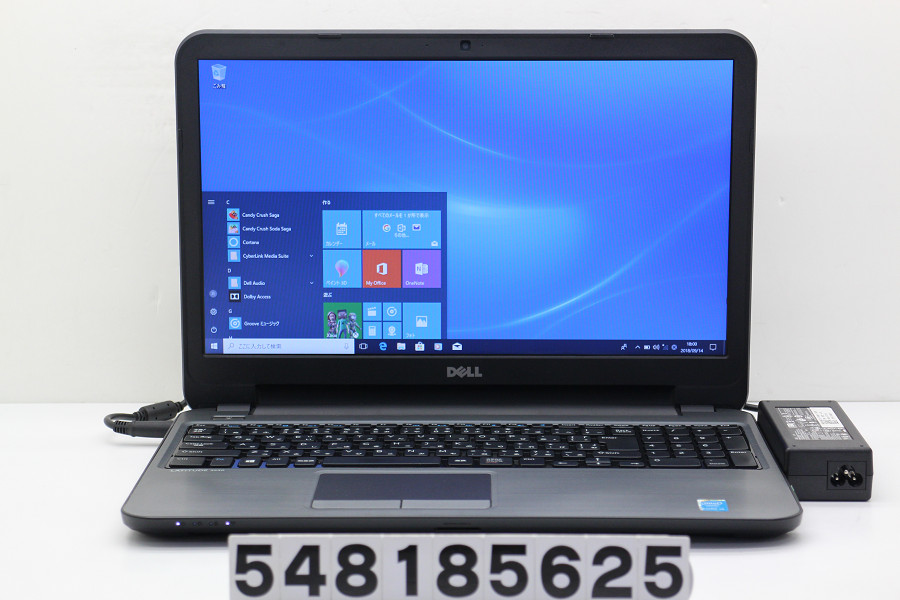 DELL Latitude 3540 Core i5 4310U 2GHz/4GB/500GB/Multi/15.6W/FWXGA(1366x768)/Win10【中古】【20180918】