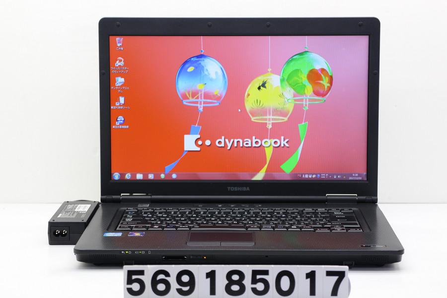 東芝 dynabook Satellite B551/C Core i5 2520M 2.5GHz/4GB/250GB/Multi/15.6W/FWXGA(1366x768)/Win7【中古】【20181002】