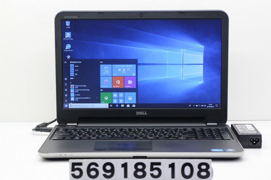 DELL Vostro 2521 Core i3 2375M 1.5GHz/4GB/320GB/Multi/15.6W/FWXGA(1366x768)/Win10【中古】【20181002】
