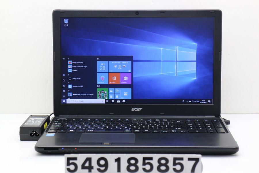acer TMP-455-M Core i5 4200U 1.6GHz/4GB/500GB/Multi/15.6W/FWXGA(1366x768)/Win10 指紋認証使用不可【中古】【20181002】