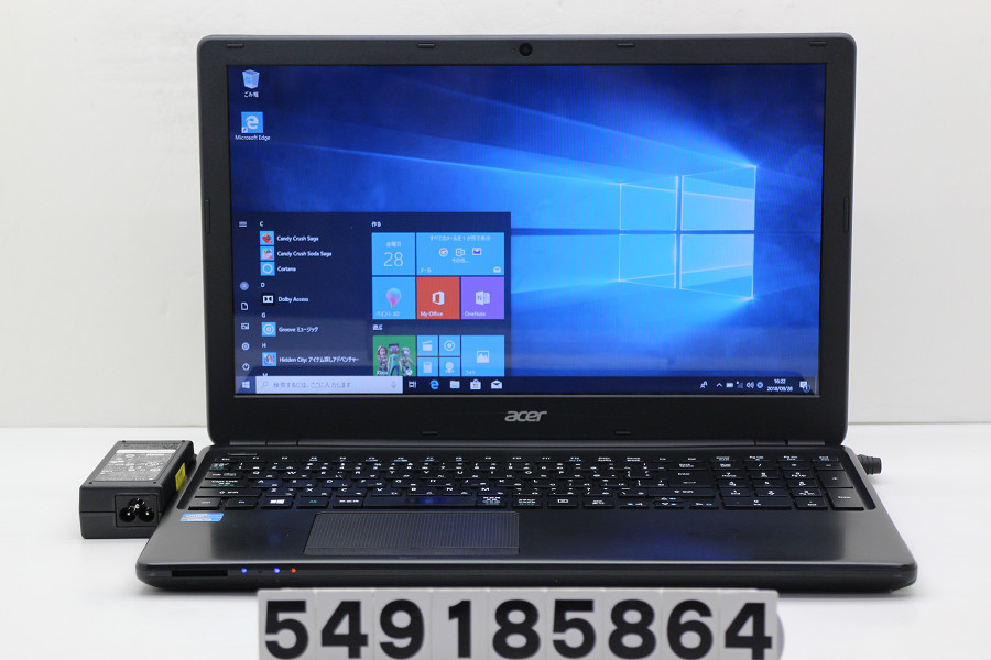 acer Aspire E1-570 Core i3 3217U 1.8GHz/4GB/500GB/Multi/15.6W/FWXGA(1366x768)/Win10【中古】【20181002】
