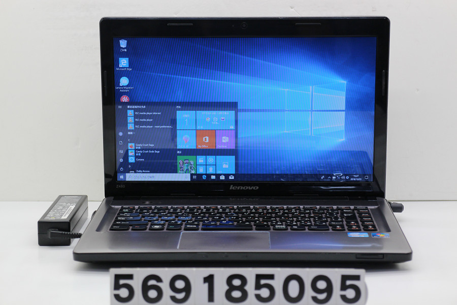 lenovo IdeaPad Z480 Core i5 3210M 2.5GHz/4GB/500GB/Multi/14W/FWXGA(1366x768)/Win10【中古】【20181002】