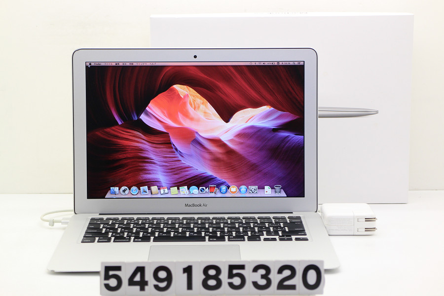 Apple MacBook Air A1466 Mid 2013 Core i7 4650U 1.7GHz/8GB/256GB(SSD)/13.3W/WXGA+(1440x900) Thunderbolt難あり【中古】【20181004】