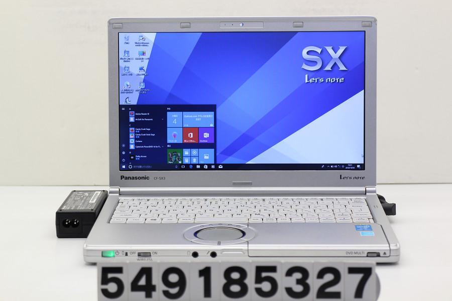 Panasonic CF-SX3EDHCS Core i5 4300U 1.9GHz/4GB/320GB/Multi/12.1W/WXGA++(1600x900)/Win10【中古】【20181005】