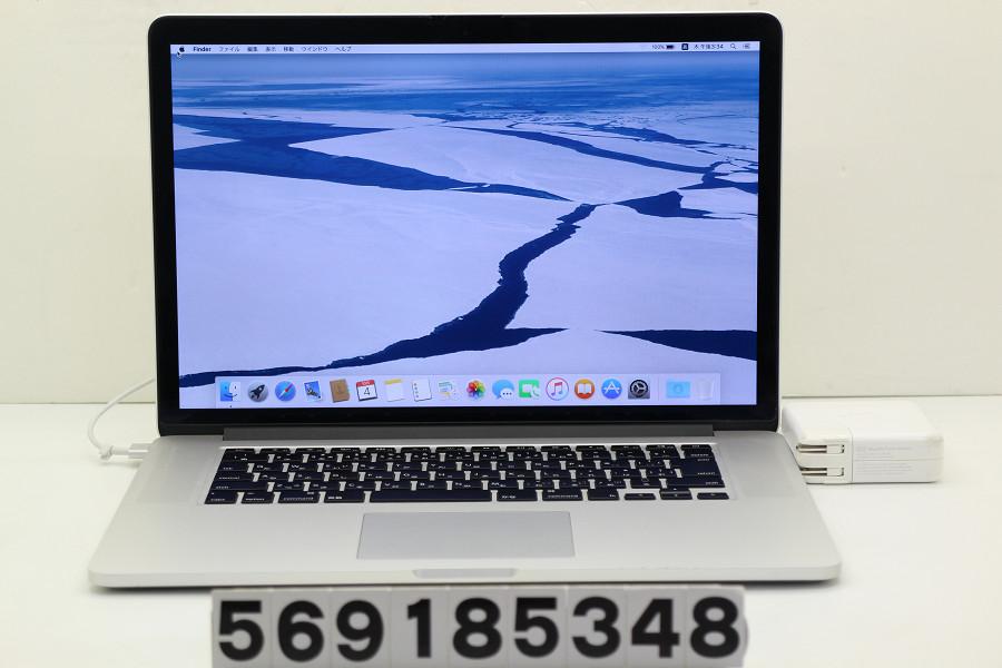 Apple MacBook Pro Retina A1398 Mid 2012 MC975J/A Core i7 3615QM 2.3GHz/8GB/256GB(SSD)/15.4W/QWXGA+ SD不良【中古】【20181005】