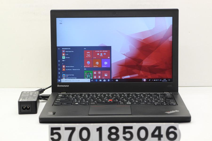 lenovo ThinkPad X240 Core i7 4600U 2.1GHz/8GB/512GB(SSD)/12.5W/FWXGA(1366x768)/Win10【中古】【20181027】