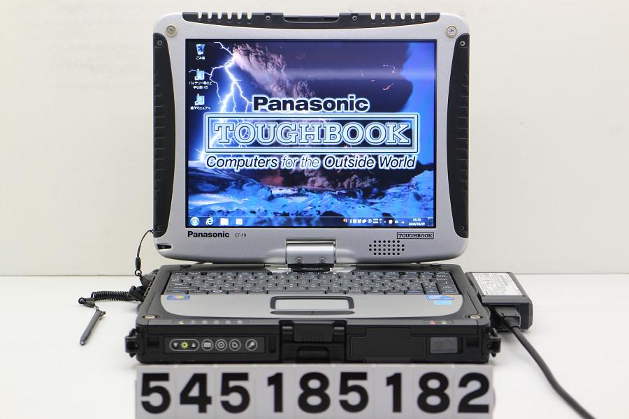 Panasonic CF-19RW1ADS Core i5 U540 1.2GHz/2GB/160GB/10.4/XGA(1024x768) タッチパネル/RS232C/Win7【中古】【20181030】