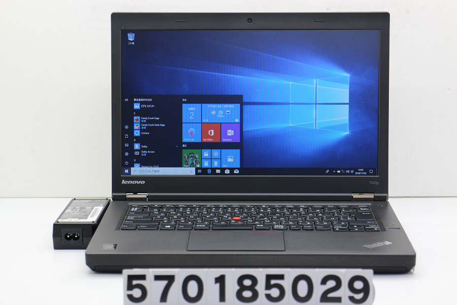 lenovo ThinkPad T440P Core i7 4600M 2.9GHz/4GB/500GB/14W/FWXGA(1366x768)/Win10【中古】【20181106】
