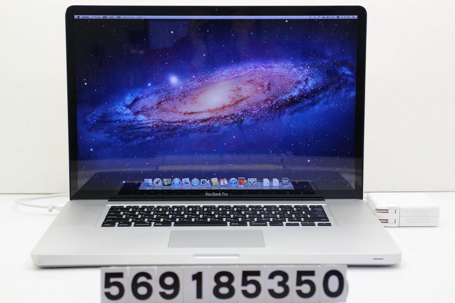 Apple MacBook Pro A1297 Early 2011 MC725J/A Core i7 2720QM 2.2GHz/4GB/500GB/Multi/17W/WUXGA(1920x1200)【中古】【20181106】