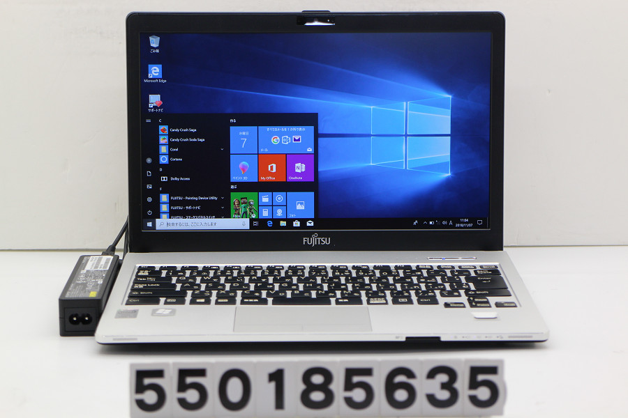 富士通 LIFEBOOK S904/J Core i5 4300U 1.9GHz/4GB/128GB(SSD)/Multi/13.3W/FHD(1920x1080)/Win10 キーボード若干難あり【中古】【20181108】