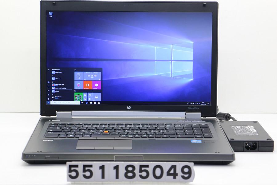 hp EliteBook 8770w Core i5 3360M 2.8GHz/8GB/256GB(SSD)/Multi/17.3W/FHD(1920x1080)/Win10/Quadro K3000M【中古】【20181113】