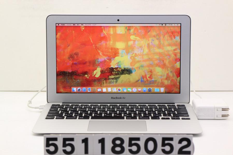 Apple MacBook Air A1465 Mid 2013 Core i5 4250U 1.3GHz/8GB/512GB(SSD)/11.6W/FWXGA(1366x768)/MacOSX10.11.6【中古】【20181114】