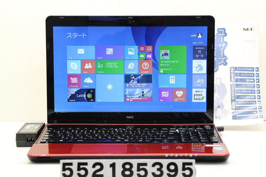 NEC PC-LS150RSR Celeron 1005M 1.9GHz/8GB/750GB/Multi/15.6W/FWXGA(1366x768)/Win8.1【中古】【20181219】