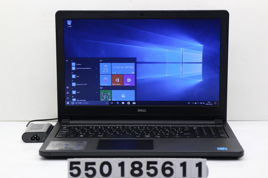 DELL Vostro 3558 Pentium 3825U 1.9GHz/4GB/500GB/Multi/15.6W/FWXGA(1366x768)/Win10 電源ボタン難あり【中古】【20181226】