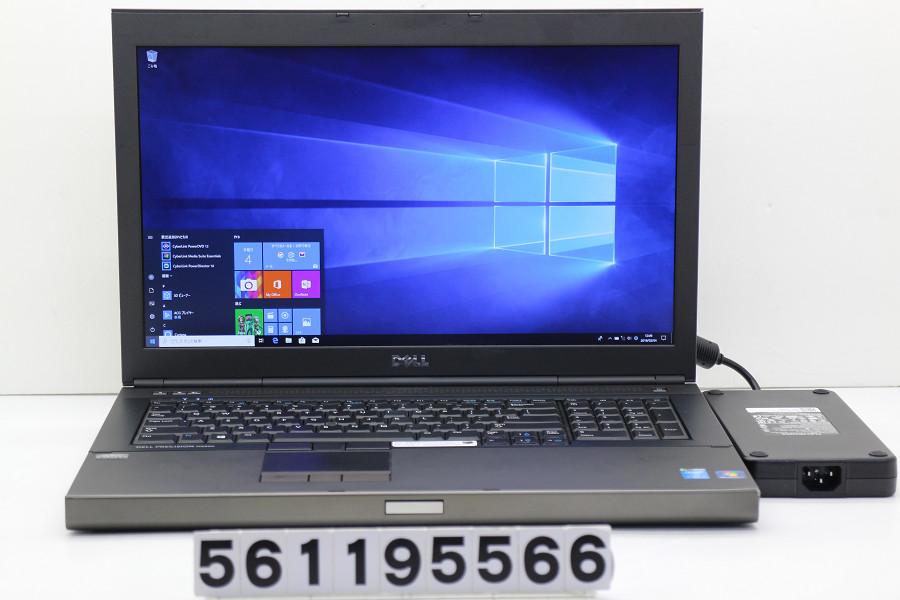 DELL Precision M6800 Core i7 4940MX 3.1GHz/32GB/2TB(SSD)/Multi/17.3W/FHD(1920x1080)/Win10/Quadro K5100M 外装破損【中古】【20190205】
