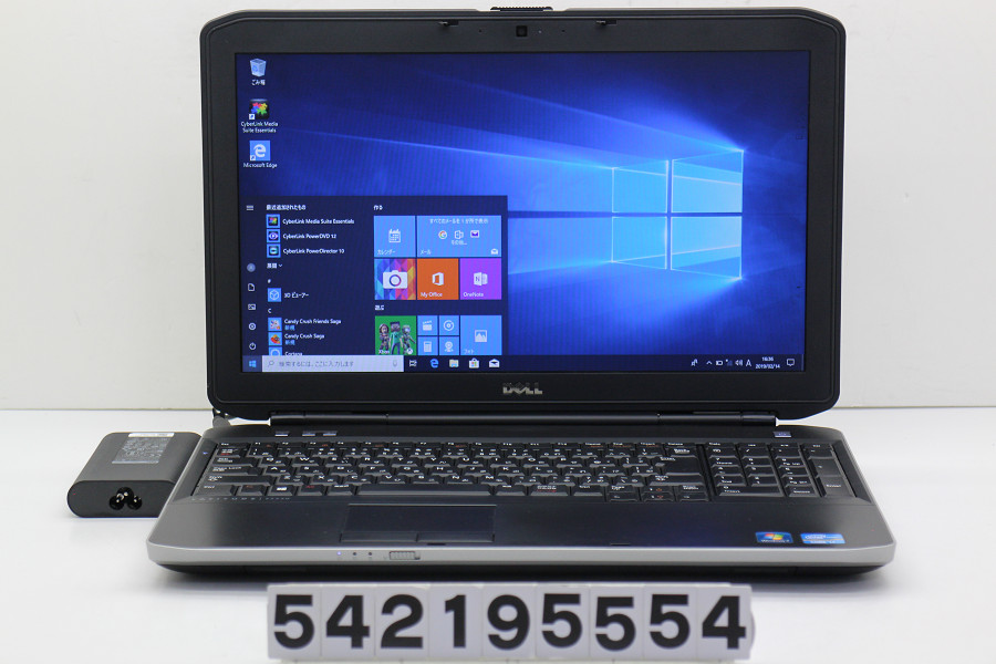 【ジャンク品】DELL Latitude E5530 Core i7 3540M 3GHz/4GB/128GB(SSD)/DVD/15.6W/FWXGA(1366x768)/Win10 液晶表示不良【中古】【20190215】