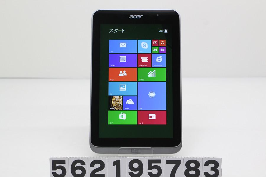acer Iconia W4-820 Atom Z3740 1.33GHz/2GB/64GB/8W/WXGA(1280x800) タッチパネル/Win8.1 microUSB接触悪い AC欠品【中古】【20190313】