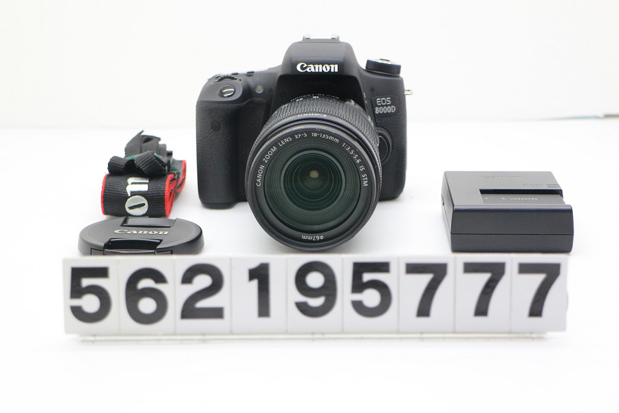 Canon EOS 8000D EF-S18-135 IS STM レンズキット 動作簡易チェック済【中古】【20190314】