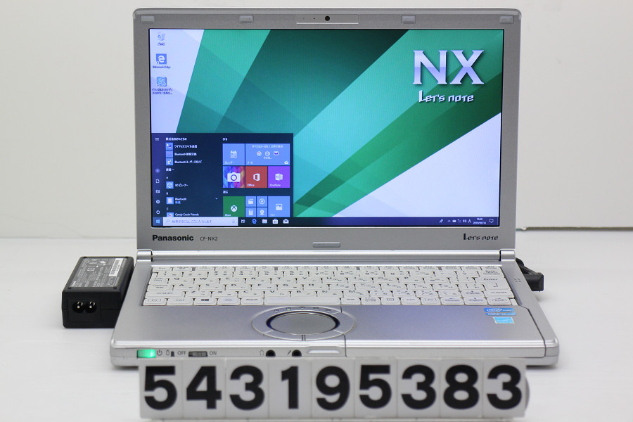 Panasonic CF-NX2ADSCS Core i5 3340M 2.7GHz/4GB/128GB(SSD)/12.1W/WXGA++(1600x900)/Win10【中古】【20190315】