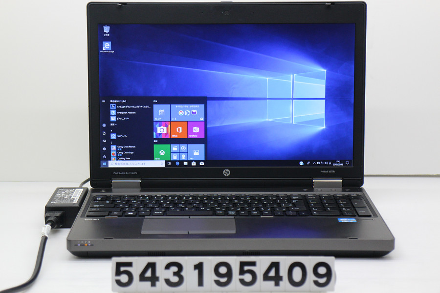 hp ProBook 6570b Core i5 3230M 2.6GHz/4GB/320GB/Multi/15.6W/FHD(1920x1080)/RS232C/Win10 バッテリー完全消耗【中古】【20190319】