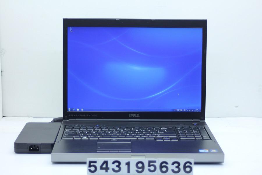 DELL Precision M6500 Core i5 M560 2.66GHz/8GB/256GB(SSD)+500GB/DVD/17W/WUXGA(1920x1200)/Win7/Quadro FX 2800M【中古】【20190320】