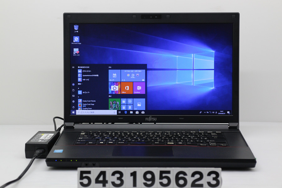 富士通 LIFEBOOK A574/H Core i5 4300M 2.6GHz/4GB/320GB/Multi/15.6W/FWXGA(1366x768)/Win10 バッテリー完全消耗【中古】【20190322】