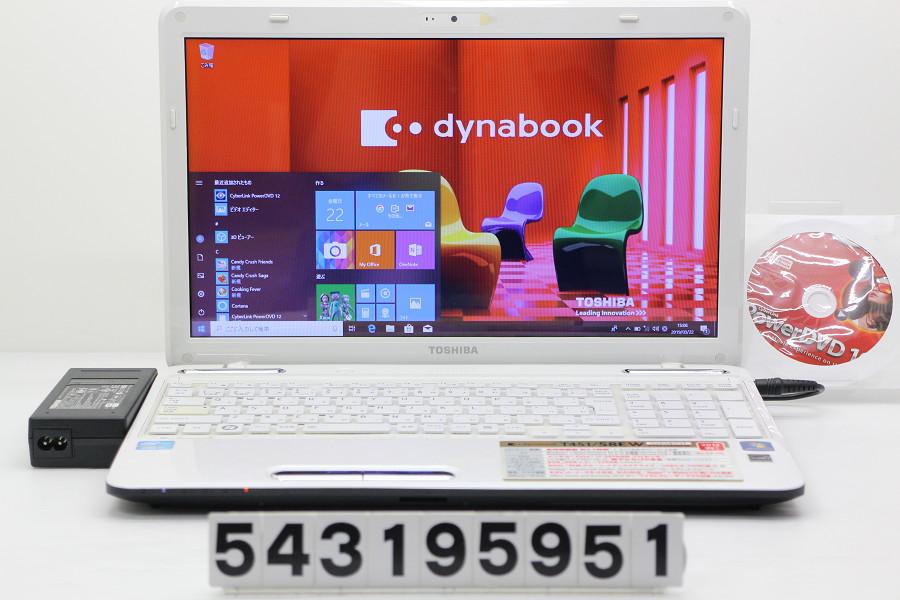 東芝 dynabook T451/58EW Core i7 2670QM 2.2GHz/8GB/750GB/Blu-ray/15.6W/FWXGA(1366x768)/Win10【中古】【20190323】