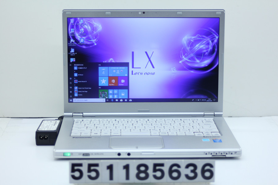 Panasonic CF-LX3ED0CS Core i5 4300U 1.9GHz/4GB/128GB(SSD)/14W/WXGA++(1600x900)/Win10【中古】【20190326】