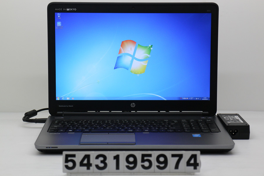 hp ProBook 650 G1 Core i5 4200M 2.5GHz/8GB/256GB(SSD)/Multi/15.6W/FHD(1920x1080)/RS232C/Win7【中古】【20190326】