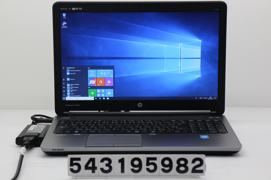 hp ProBook 650 G1 Core i5 4200M 2.5GHz/4GB/256GB(SSD)/Multi/15.6W/FHD/RS232C/Win10 バッテリー完全消耗 液晶表示不良【中古】【20190326】